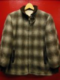 1950'S TOM SAWYER SHADOW PLAID WOOL FARAOH JACKET SZ/XS/ヴィンテージファラオジャケット