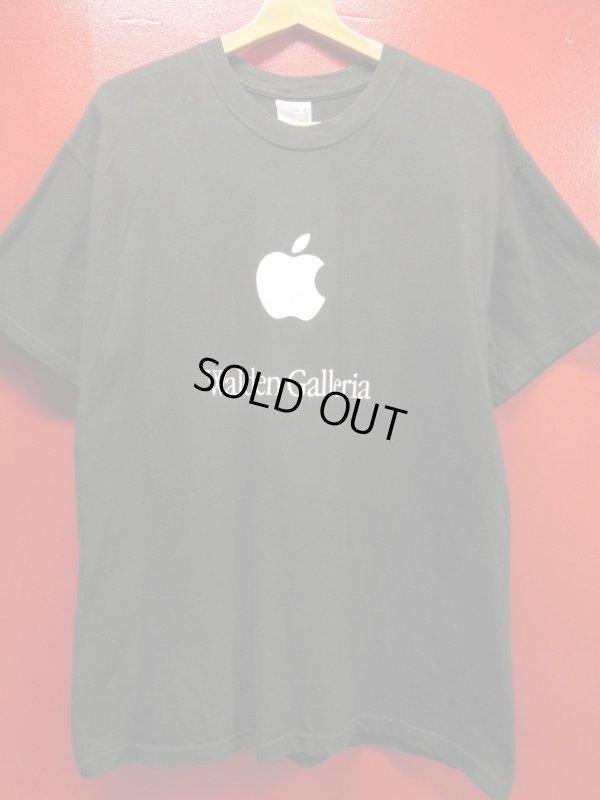 画像1: (2)90S00S US古着 ビンテージ apple アップルコンピューター 販売店イベントスタッフTシャツ/黒/Lサイズ