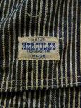 画像3: 1950'S HERCULES HICKORY STRIPE OVERALLS/TOOL POCKET/W KNEE/40X30