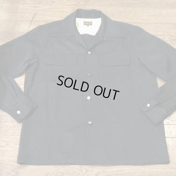 画像2: The GROOVIN HIGH Vintage 1940'S Style Box Shirt Black/A138/黒レーヨンシャツ/Mサイズ