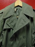 画像2: 1976'S DEADSTOCK RAINCOAT, MAN'S, COTTON AND POLYESTER, QUARPEL, ARMY GREEN 274/SZ-34S (2)