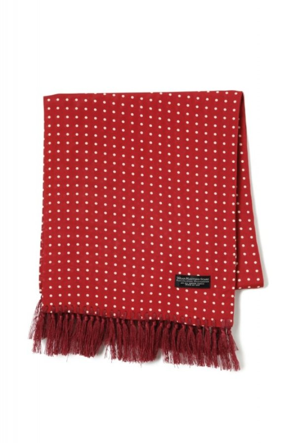 "画像1: Attractions  WEARMASTERS SCARF ""Dot"" Wine Red"