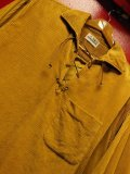 1960'S MARTE CONTINENTALS CORDUROY LACE UP PULLOVER SHIRT SZ/L