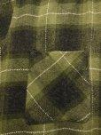 画像8: 〜1960'S BRENT BLACK X OLIVE GREEN PLAID WOOL BOX SHIRT SZ/MEDIUM
