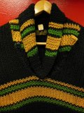 1940'S DEADSTOCK SUPER QUALITY BLACK SHAWL COLLAR SWEATER/S