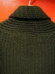 画像6: 1940'S DEADSTOCK SUPER QUALITY BLACK SHAWL COLLAR SWEATER/S (6)