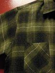 画像7: 〜1960'S BRENT BLACK X OLIVE GREEN PLAID WOOL BOX SHIRT SZ/MEDIUM
