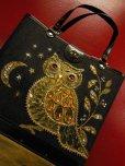 画像7: 1960'S ENID COLLINS STYLE OWL JEWELED BAG/BLACK