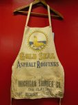 画像2: VINTAGE COLD SEAL/MICHIGAN LUMBER CO, WORK APRON/ワーク 生成 エプロン (2)