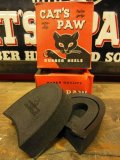 NOS CAT'S PAW RUBBER HEELS/PITCHED/7-8/9-10/10-11/BLACK/箱入デッドストック キャッツポゥ ラバーヒール
