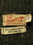 画像4: 1950'S〜 SOMERSET GRAY X RED SHAWL COLLAR WOOL SWEATER SIZE/SMALL
