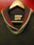 画像3: 1950'S〜 SOMERSET GRAY X RED SHAWL COLLAR WOOL SWEATER SIZE/SMALL