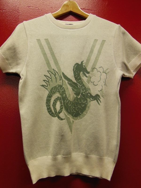 画像2: The GROOVIN HIGH Vintage 50'S Style Summer Knit /Dragon/A178/Green/M