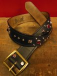 "画像2: RAWHIDE STUDDED & JEWELED BELT LOT-101/A street car named desire/ 1-3/4""[44MM]  (2)"