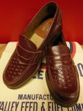 1950'S NOS SUNDIAL KENMORE COIN LOAFER SHOES SZ/7.0D