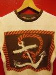"""画像11: The GROOVIN HIGH A199 Vintage Style Short Summer Knit """"Anchor"""" Green/Brown"""