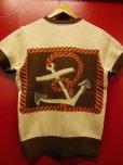 """画像13: The GROOVIN HIGH A199 Vintage Style Short Summer Knit """"Anchor"""" Green/Brown"""