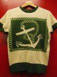 """画像15: The GROOVIN HIGH A199 Vintage Style Short Summer Knit """"Anchor"""" Green/Brown"""