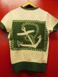 """画像18: The GROOVIN HIGH A199 Vintage Style Short Summer Knit """"Anchor"""" Green/Brown"""