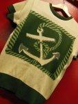 """画像19: The GROOVIN HIGH A199 Vintage Style Short Summer Knit """"Anchor"""" Green/Brown"""