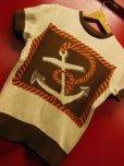 """画像14: The GROOVIN HIGH A199 Vintage Style Short Summer Knit """"Anchor"""" Green/Brown"""
