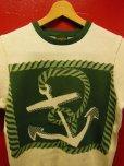 """画像16: The GROOVIN HIGH A199 Vintage Style Short Summer Knit """"Anchor"""" Green/Brown"""