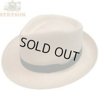 "NEW  STETSON ""TRILBY""STRAW PANAMA HAT/NATURAL/LARGE 新品 ステットソン パナマハット"