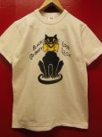 "画像3: RAWHIDE ""BLACK CAT"" TEE SHIRT/6.2oz BODY/WHITE/BLACK (3)"