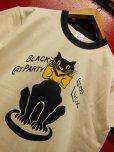 "画像2: RAWHIDE ""BLACK CAT"" TEE SHIRT/6.2oz BODY/WHITE/BLACK (2)"