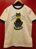 "RAWHIDE ""BLACK CAT"" TEE SHIRT/6.2oz BODY/WHITE/BLACK"