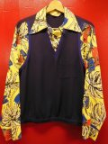 1940'S DELMONICO LAYERED VEST RAYON HAWAIIAN SHIRT L/S/SZ/MEDIUM