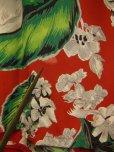 画像11: 1950'S CACMPBELL'S FLOWER PRINTED RAYON HAWAIIAN SHIRT SZ/M