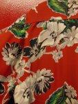 画像10: 1950'S CACMPBELL'S FLOWER PRINTED RAYON HAWAIIAN SHIRT SZ/M