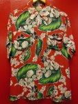 画像1: 1950'S CACMPBELL'S FLOWER PRINTED RAYON HAWAIIAN SHIRT SZ/M (1)