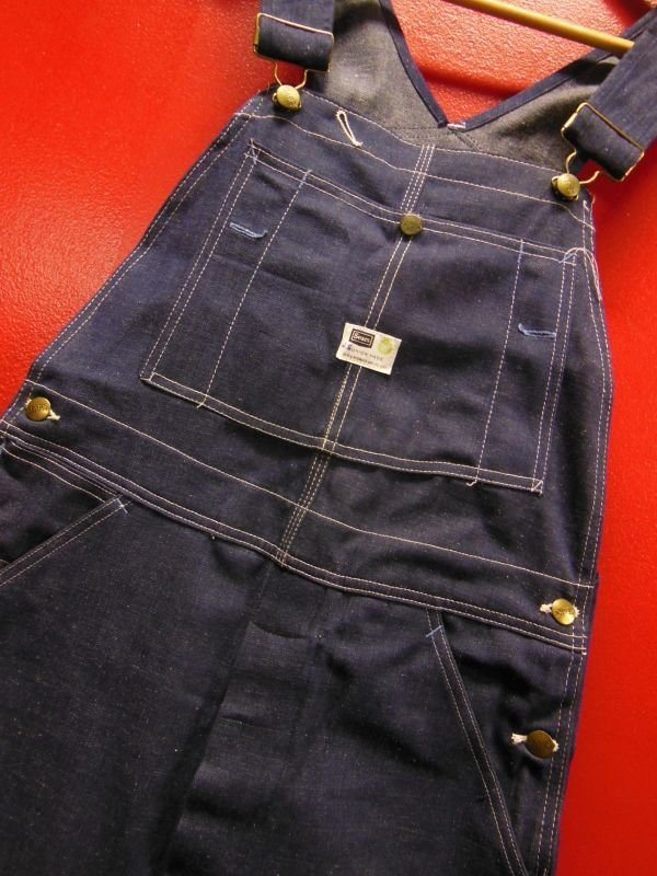 画像2: 1960'S DEADSTOCK SEARS ROEBUCK UNION MADE DENIM BIB OVERALLS SZ/34 X 32