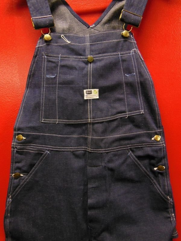 画像1: 1960'S DEADSTOCK SEARS ROEBUCK UNION MADE DENIM BIB OVERALLS SZ/34 X 32