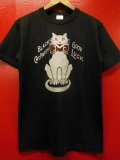 "RAWHIDE ""BLACK CAT"" TEE SHIRT/6.2oz BODY/BLACK"