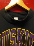 画像3: 80S90S US古着 ビンテージ aワシントン州立大学ハスキーズ長袖Tシャツ/黒/LT
