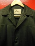 1950'S SPORTSWEAR BLACK RAYON HOLLYWOOD JACKET/MEDIUM
