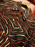 The GROOVIN HIGH Vintage Style Box Shirt Long Sleeves/Remaining Tiger/Red