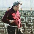 画像2: The GROOVIN HIGH Vintage Style 1950's Zebra Corduroy Jacket/Wine/MEDIUM  (2)