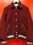 画像6: The GROOVIN HIGH Vintage Style 1950's Zebra Corduroy Jacket/Wine/MEDIUM
