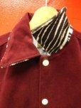 画像9: The GROOVIN HIGH Vintage Style 1950's Zebra Corduroy Jacket/Wine/MEDIUM