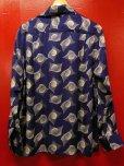 画像4: The GROOVIN HIGH 1950'S Vintage Style Box Shirt Long Sleeves A241 /NAVY/MEDIUM