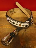 "RAWHIDE STUDDED & JEWELED BELT LOT-412/ 1-1/2""[38MM] ブルース・スプリングスティーンBorn In The USAベルト"