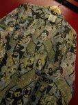 画像1: 90S9/00S デッドストック バットマン ジョーカー 総柄30S/40SプリントシャツSZ//M/ DC COMIC TM BATMAN JOKER (1)