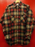 〜1960'S DEADSTOCK Allied PRINTED PLAID FLANNEL SHIRT LOT 171 SZ/14-1/2 SMALL