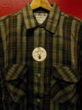 〜1960'S DEADSTOCK KENTFIELD PRINTED PLAID FLANNEL SHIRT SZ/MEDIUM