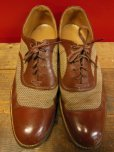 画像2: 1950'S A.S.BECK TWO TONE NYLON WEAVE U-WING TIP SHOES/8C (2)