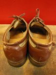 画像3: 1950'S A.S.BECK TWO TONE NYLON WEAVE U-WING TIP SHOES/8C
